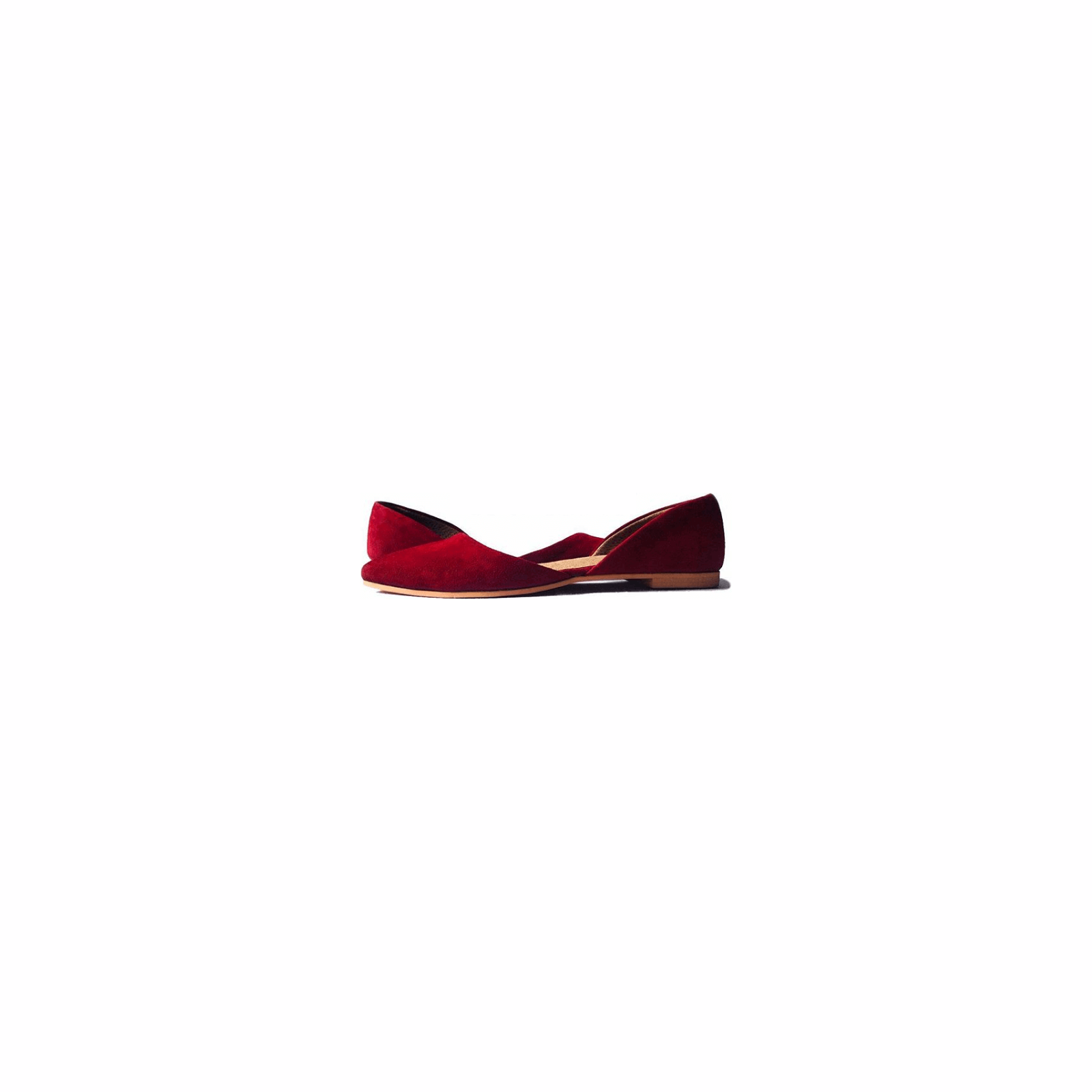 Suede Red Shoe Half Shoe