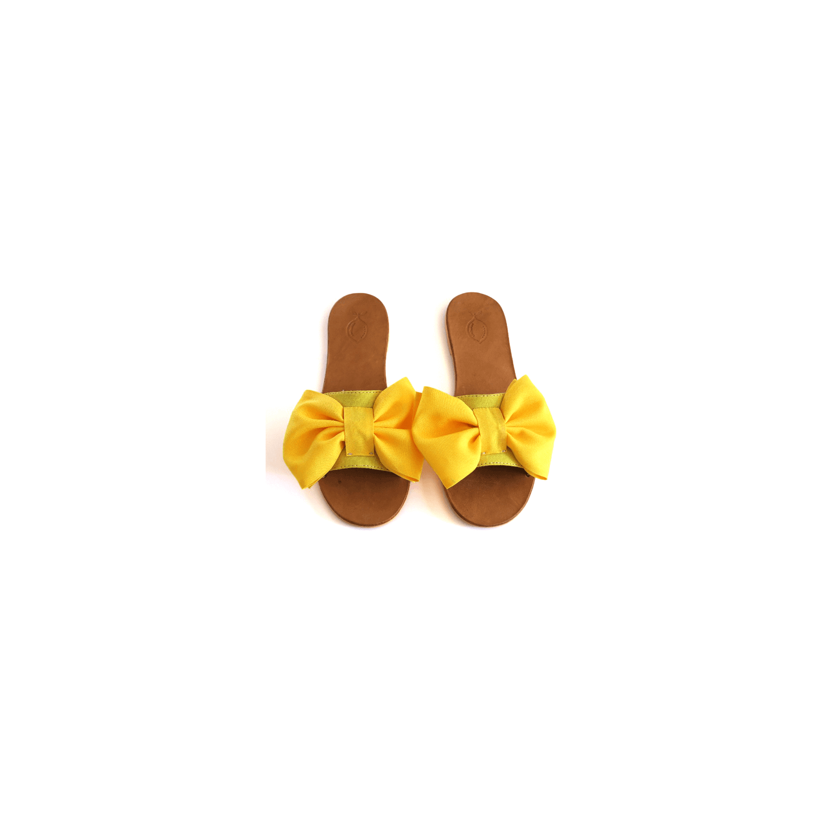 Yellow fabric tie sandal
