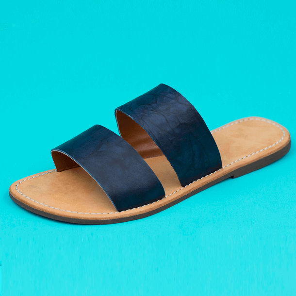 Cranberry sandal double tape