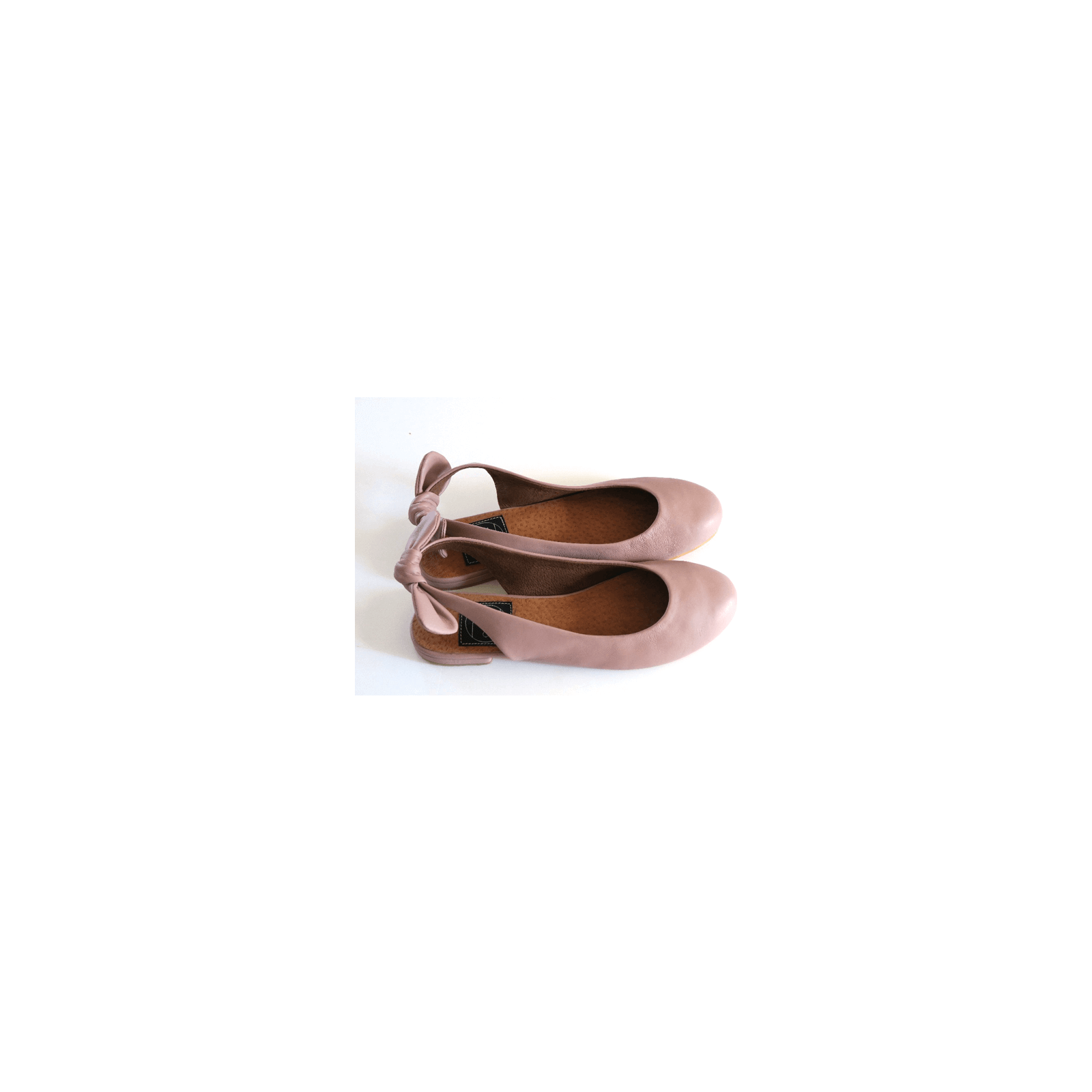 Ballerinas pink old Colombian leather