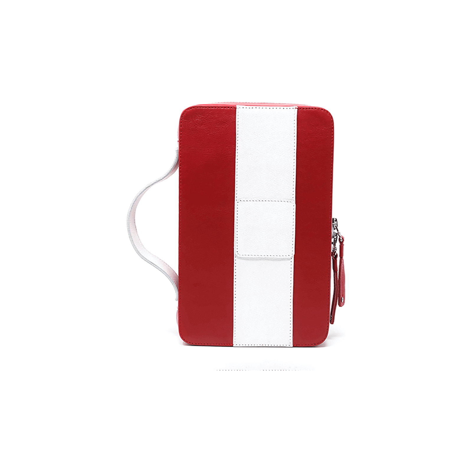 Red and White Churchill Cigar Case