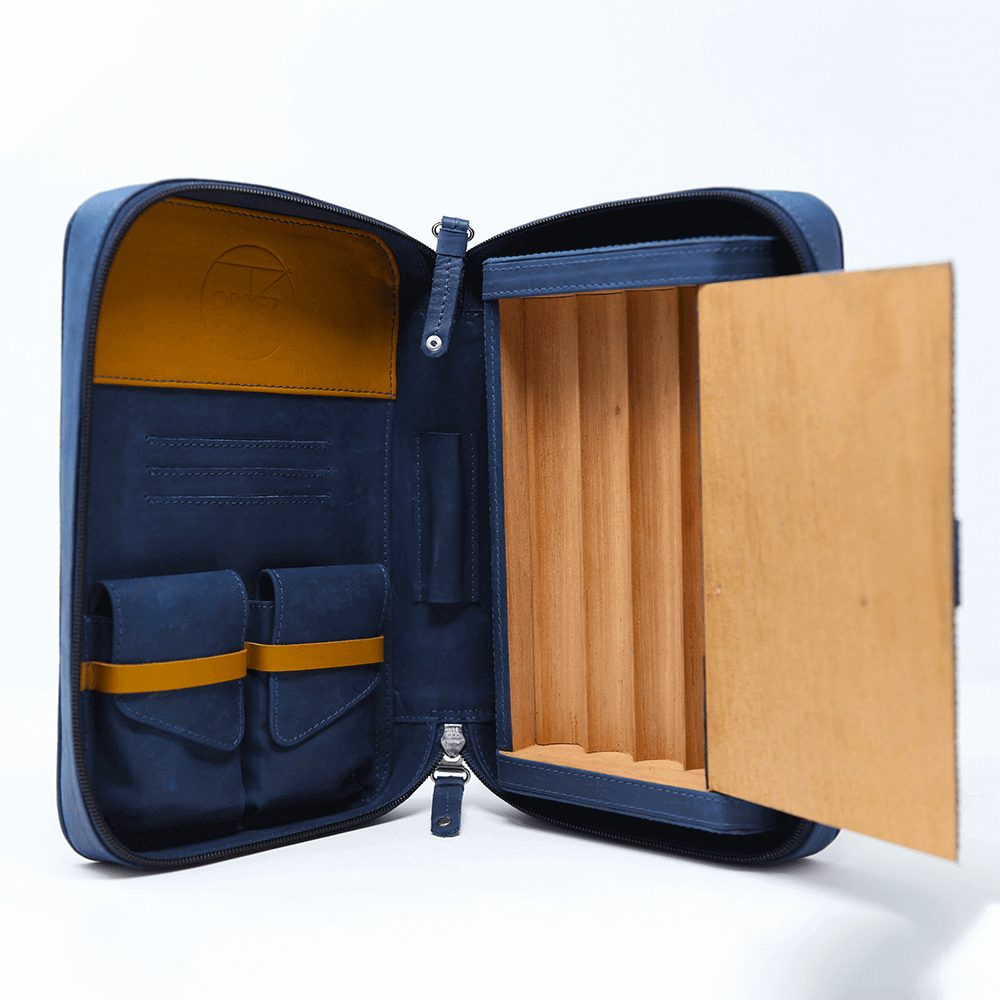 Blue & Mustard Churchill Case