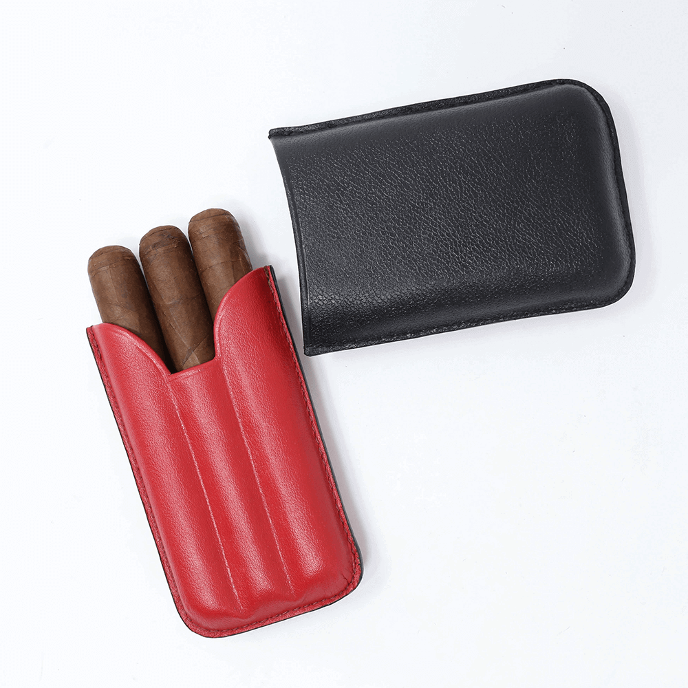 Red and Black Junior Cigar Case