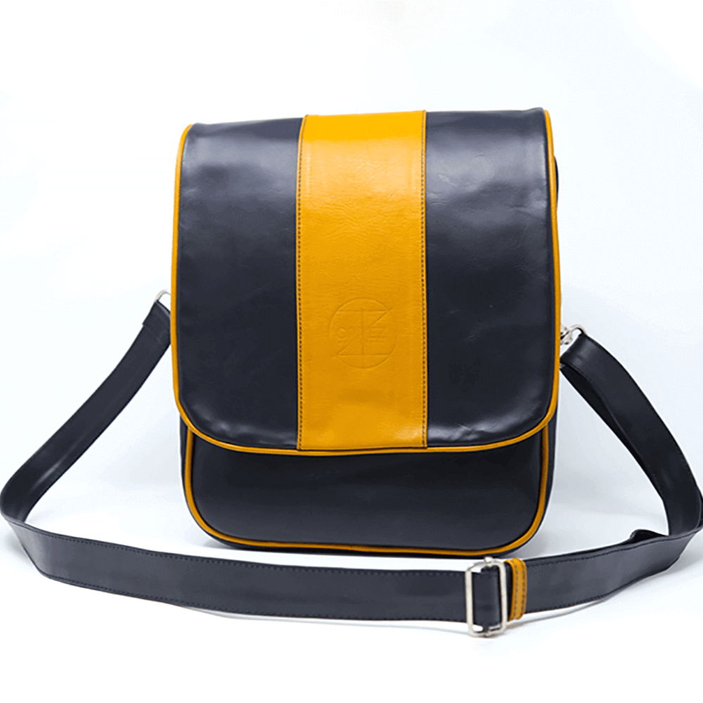 Messenger Bag Blue & Yellow